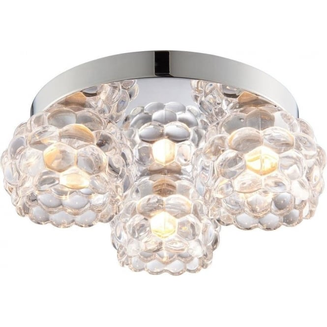 Endon 55159 Lawcross 3 Light Flush Ceilling Light IP44 Polished Chrome