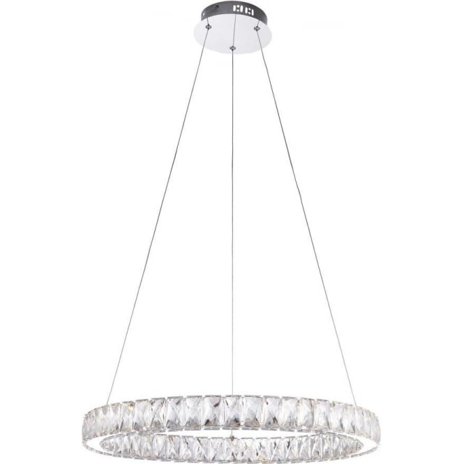 Endon 61341 Swayze LED Ceiling Pendant Polished Chrome