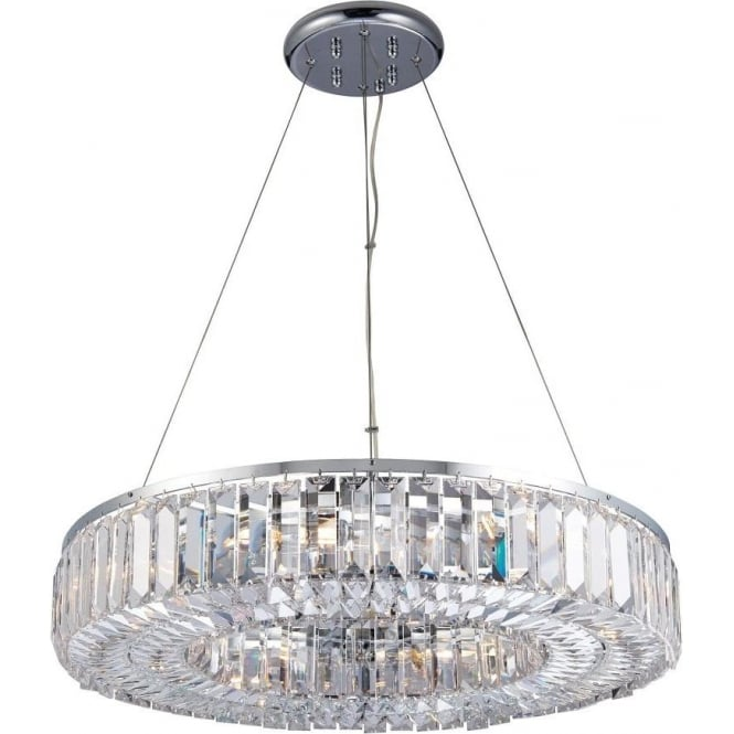 Endon 61151 Banderas 8 Light Crystal Ceiling Light Polished Chrome