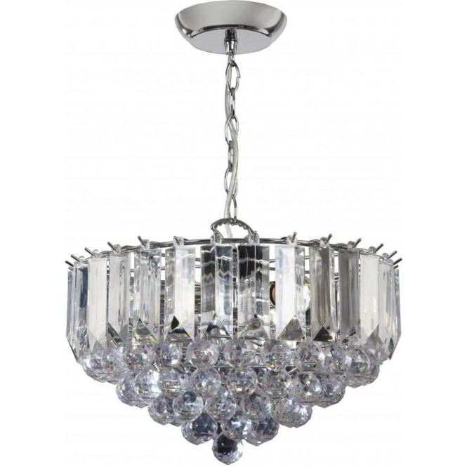 Endon FARGO-14CH Fargo 3 Light Modern Ceiling Light Chrome Plated Finish (Large)