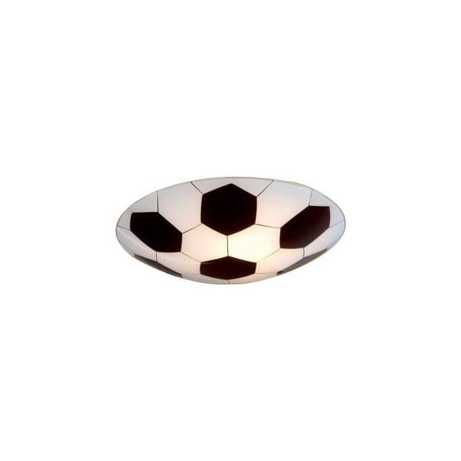 Eglo 87284 Junior 1 Football Childrens Wall / Ceiling Light Black White