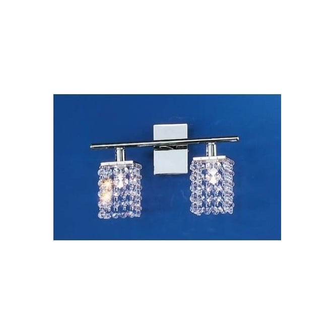 Eglo 85332 Pyton 2 Light modern Wall light genuine lead crystal and chrome finish (switched)
