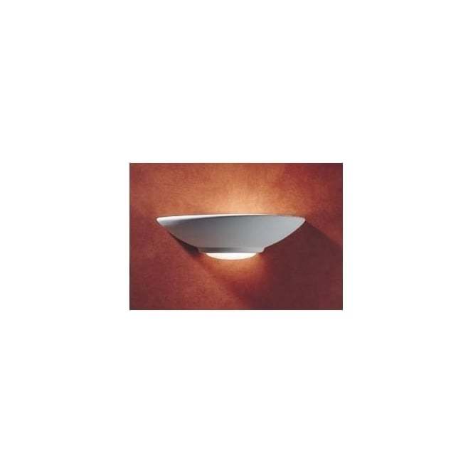 Dar STE0748 Stella 1 light modern wall light unglazed ceramic finish