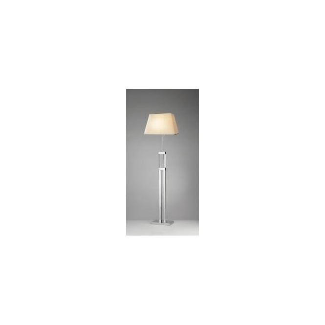 Dar DOM4950 Domain 1 light modern floor lamp quartz glass and polished chrome finish