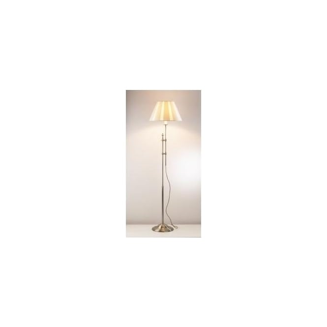 Dar KNI4975 Knightsbridge 1 light traditional floor lamp antique brass finish