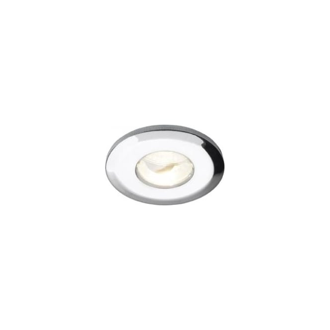 Dar Nebula NEB2050LV Nebula IP65 bathroom and shower firerated downlight 12v low voltage MR16 pressed steel fixed polished chrome finish