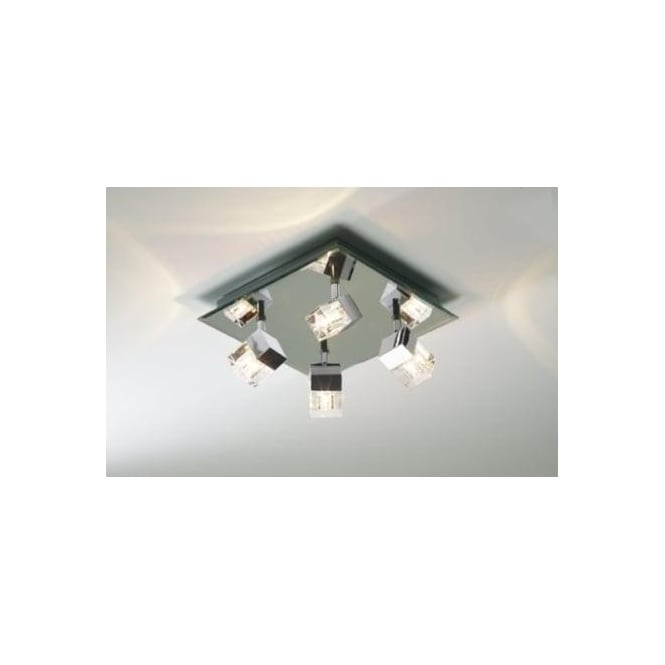 Dar LOG8550 Logic 4 Light Modern Bathroom Spotlight Flush Ceiling Light IP44