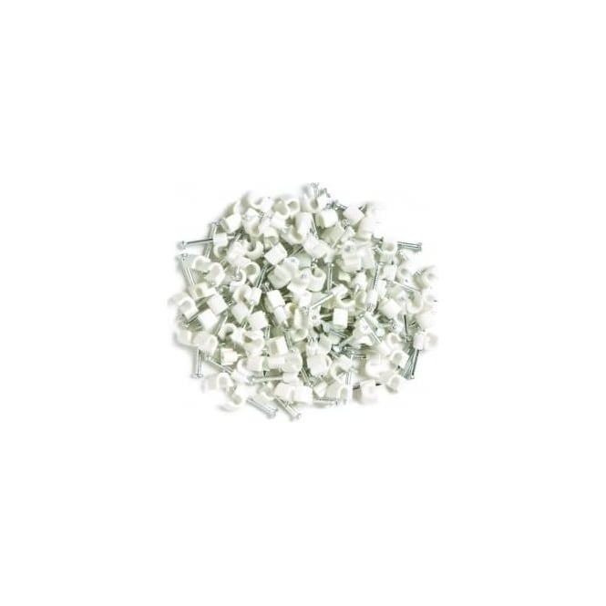 LGA-Selectric LGA Selectric CCR7W Round 7.0mm cable clips white pack of 100