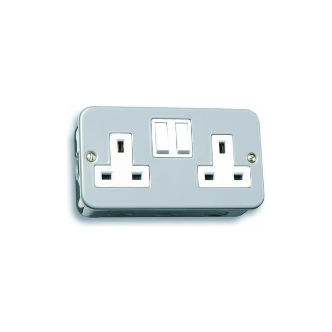 LGA-Selectric LGA Selectric LG9098MB 2 gang switched single pole 13 amp socket outlet
