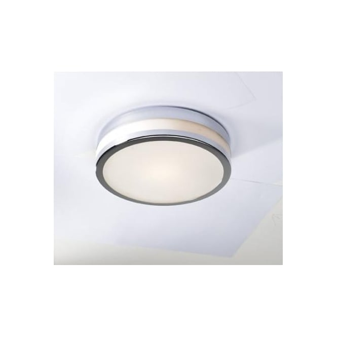 Dar CYR5050 Cyro 1 light modern bathroom flush ceiling light IP44 rated polished chrome finish (large)