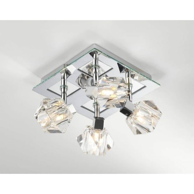 Dar dar geo8550 geo 4 light modern ceiling light spotlight crystal geo8550 geo 4 light modern ceiling light spotlight crystal and polished chrome finish mozeypictures Choice Image