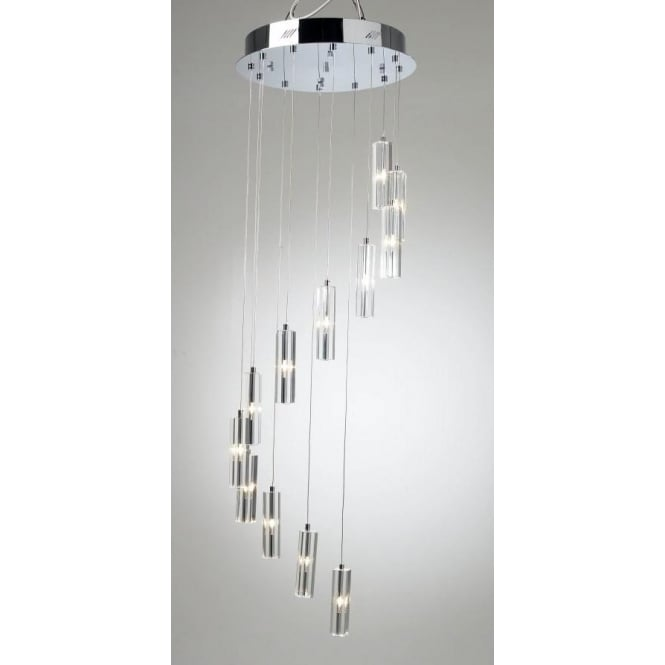 GAL1250 Galileo 12 light pendant ceiling light crystal and polished chrome  sc 1 st  Ocean Lighting & Dar Dar GAL1250 Galileo 12 light pendant ceiling light crystal and ... azcodes.com