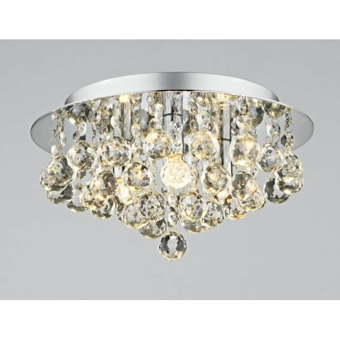 Plu5250 pluto 3 light modern ceiling light flush polished chrome finish