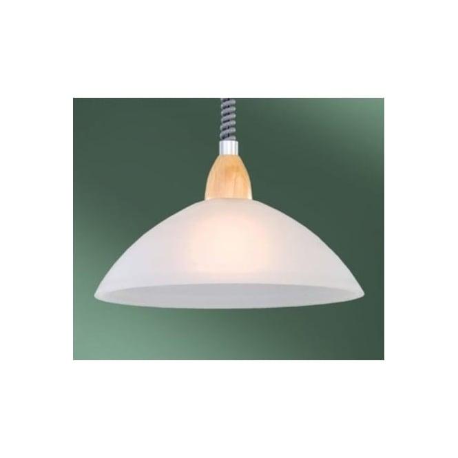 87009 lord2 1 light modern pendant ceiling light alabaster glass shade beech wood finish