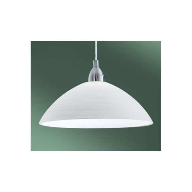 Eglo eglo 88491 lord3 1 light modern pendant ceiling light white 88491 lord3 1 light modern pendant ceiling light white handmade glass shade nickel matt finish mozeypictures Image collections