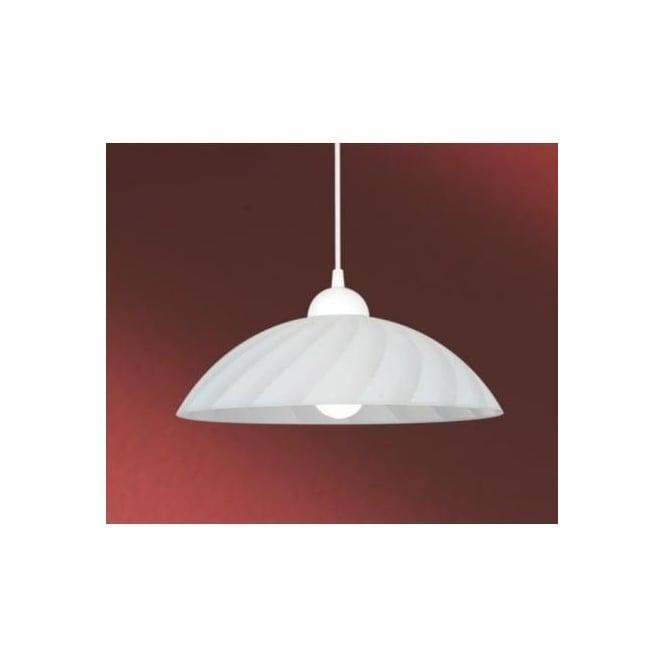 buy online 33e8a fb200 82785 Vetro 1 light traditional pendant ceiling light white bevelled satin  glass white finish