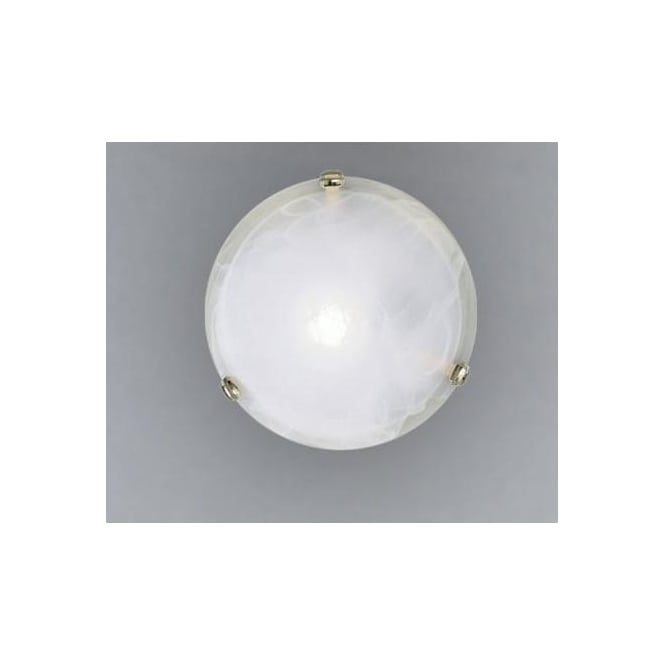 Eglo 7183 Salome 2 light traditional flush ceiling light alabaster glass brass coated finish large