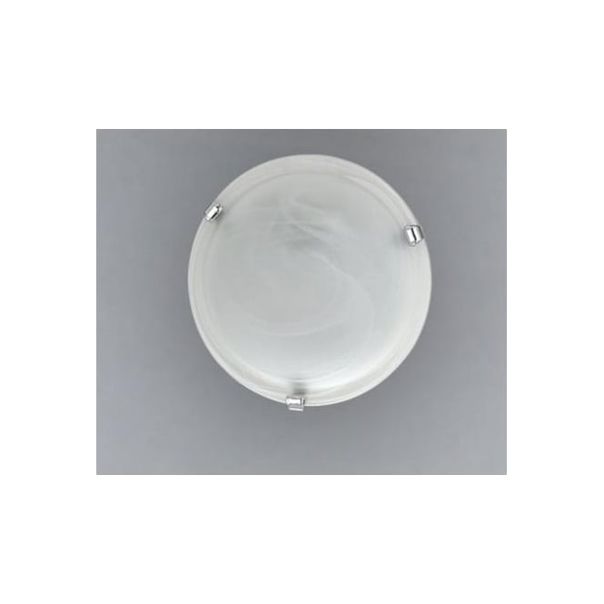 Eglo 7184 Salome 2 light traditional flush ceiling light alabaster glass chrome finish large