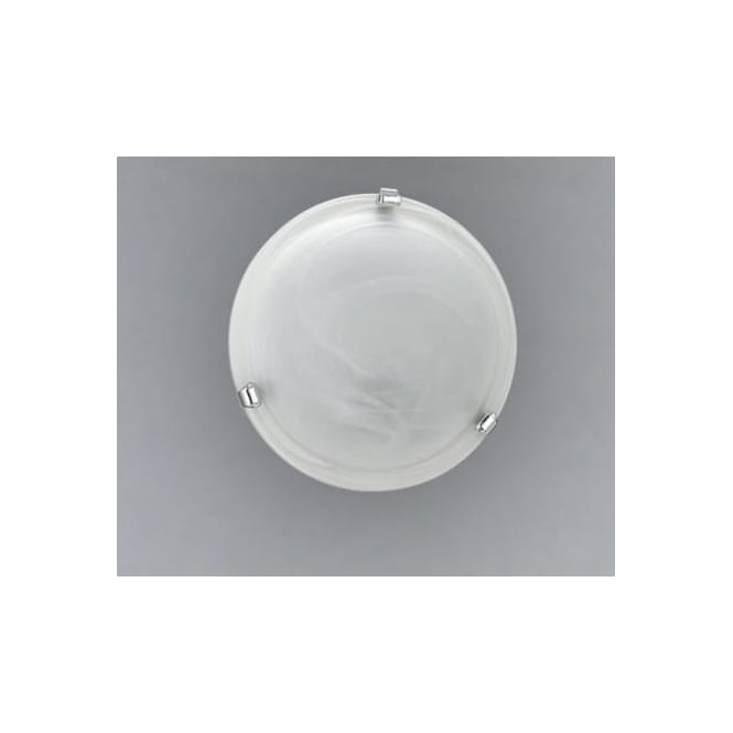 Eglo 7186 Salome 1 light traditional flush ceiling light alabaster glass chrome finish small