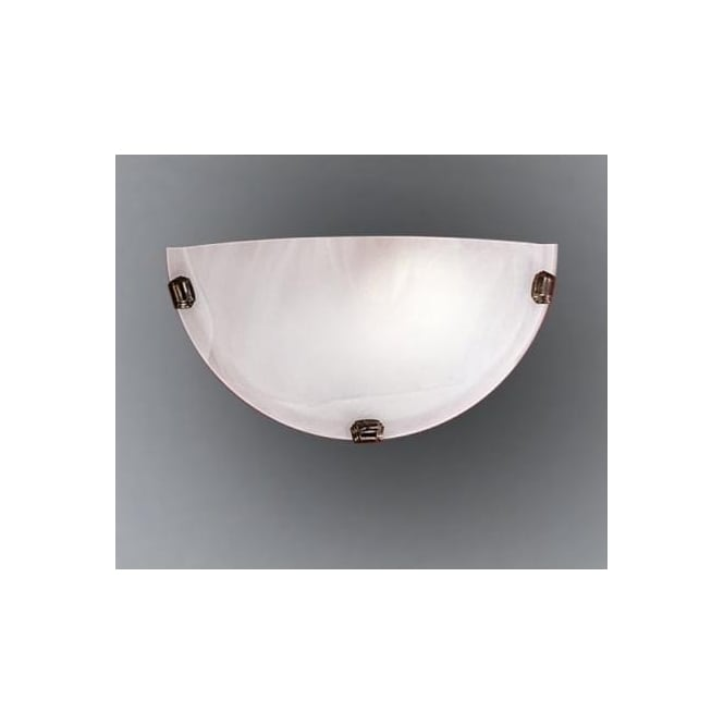 Eglo 7903 Salome 1 light traditional wall light alabaster glass antique brass finish