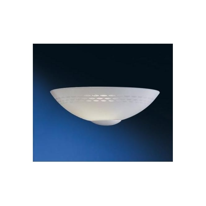 Wall Lights Frosted Glass : Eglo Eglo 82887 Twister 1 light traditional wall light patterned white frosted glass - Wall ...