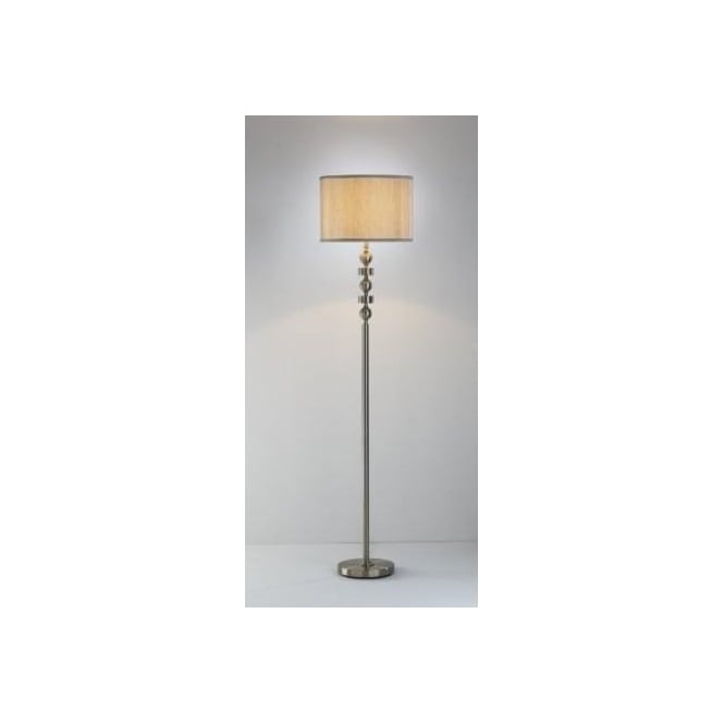 Dar TYR4975 Tyra 1 light traditional floor lamp antique brass finish