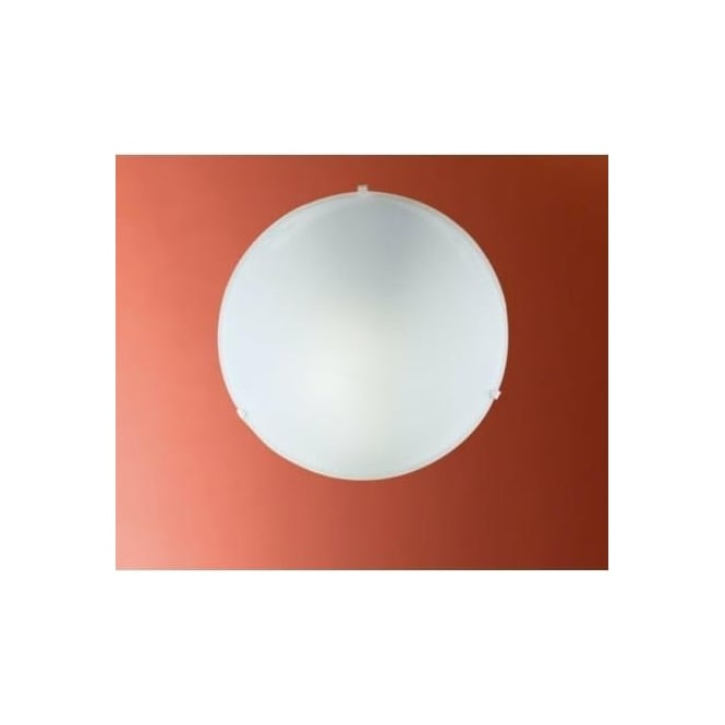 Eglo 80265 Mars 1 light traditional flush wall/ceiling light circular white satin glass