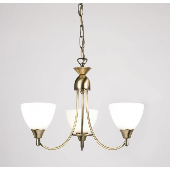 Endon 1805-3AN Alton 3 Light Ceiling Light Antique Brass