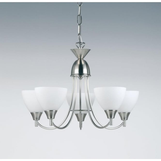 Endon 1805-5SC Alton 5 Light Ceiling Light Satin Chrome Finish
