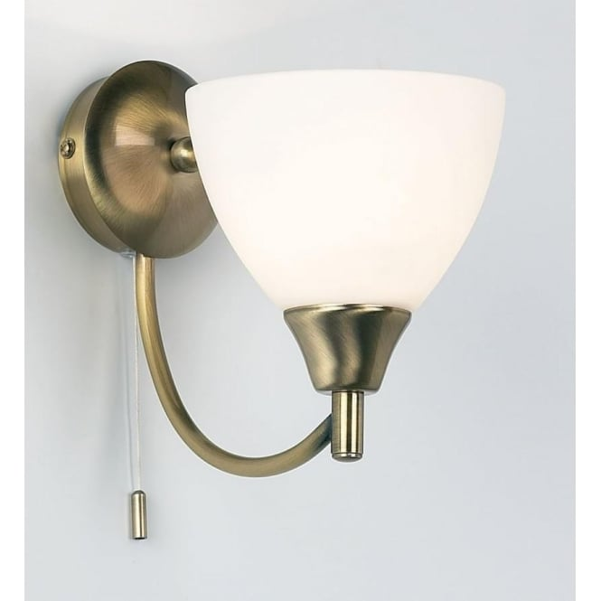 Endon 1805-1AN Alton 1 Light Switched Wall Light Antique Brass