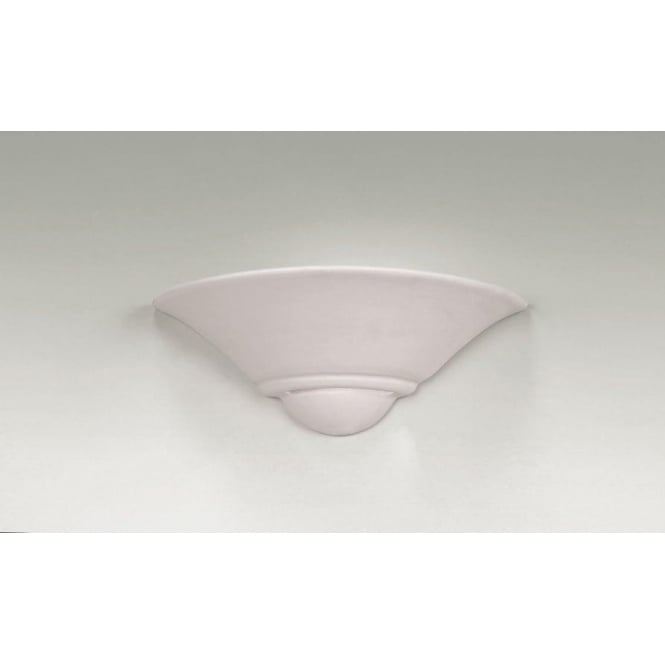 Endon UG-WB-7 1 Light Modern Wall Light Natural Unglazed Finish