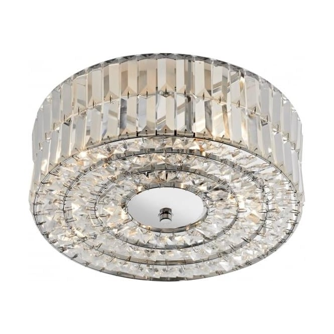 err5250 errol 4 light modern crystal ceiling light semi flush polished chrome finish