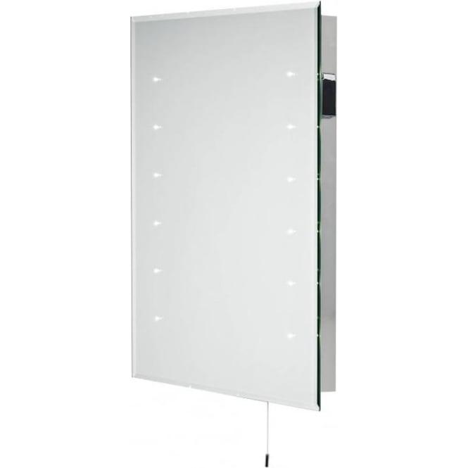 DIA94 Diamond Medium LED Bathroom Mirror Complete With Shaver Socket IP44 Rated