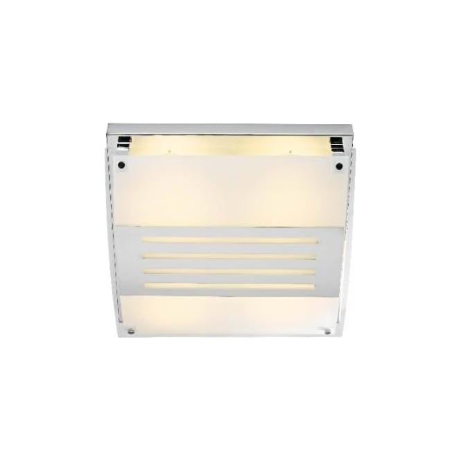 Dar GET8550 Getty 4 light low energy modern bathroom ceiling flush satin chrome finish ip44 rated