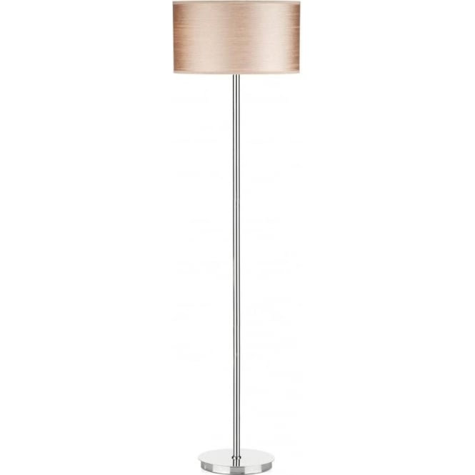 Dar TUS4946/S1055 Tuscan 1 Light Floor Lamp Satin Chrome