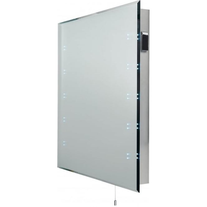 zod98 zodiac modern led bathroom mirror ip44 with shaver socket switched