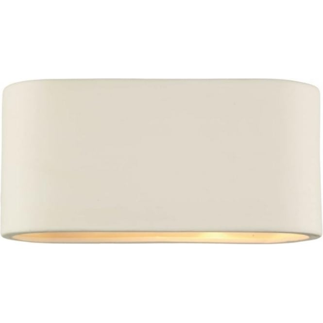 Modern Ceramic Wall Lights : Dar AXT372 Axton 1 light modern wall light white ceramic finish (large) - Wall Lights from Ocean ...