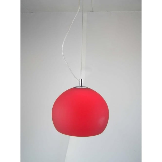 retro lighting. LPENDELRED 1 Light Ceiling Pendant Red Retro Lighting G