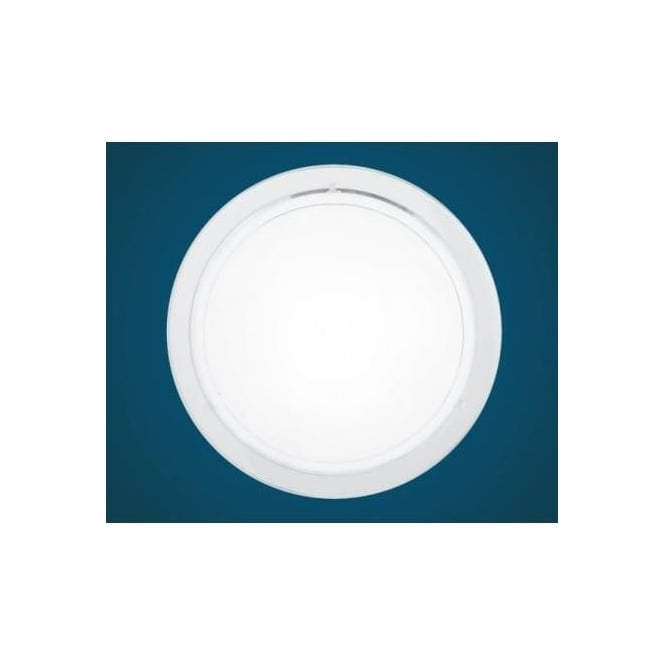 Eglo 83153 Planet 1 1 light modern wall/ceiling light white finish with a satinated glass shade