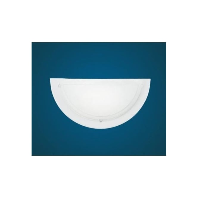 Eglo 83154 Planet 1 1 light modern wall light white finish with a satinated glass shade