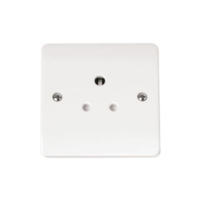 Click Mode CMA038 5 amp round pin socket outlet brilliant white plastic