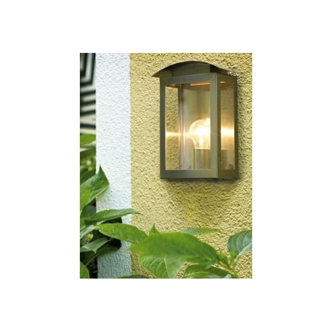 91089 Baranello 1 Light Modern Outdoor Wall Light Stainless Steel Finish  IP33 Rated