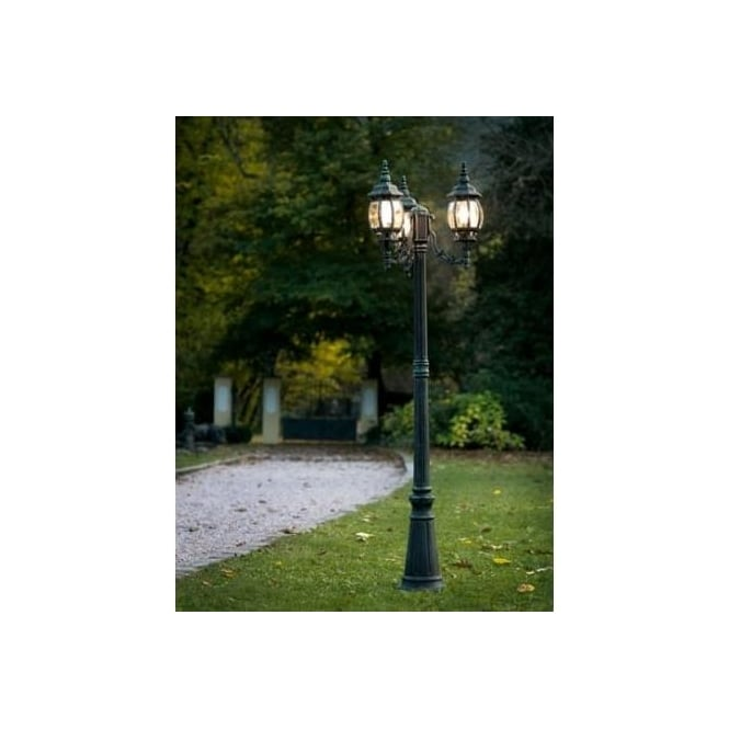 Eglo Eglo 4171 Outdoor Classic 3 light outdoor floor lamp/post ...