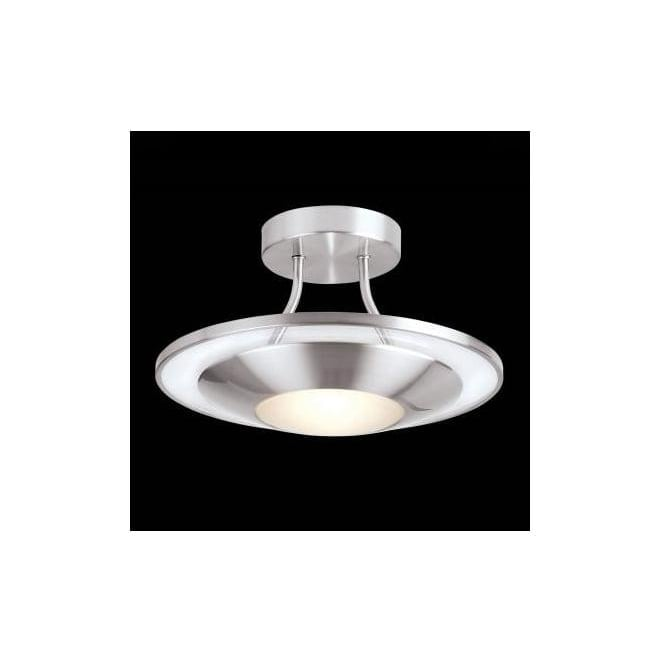 Endon 387-30SC 1 light modern flush ceiling light satin chrome finish