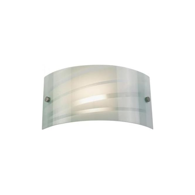 Endon 96220-WBWH 1 Light Modern Wall Light White Striped Finish