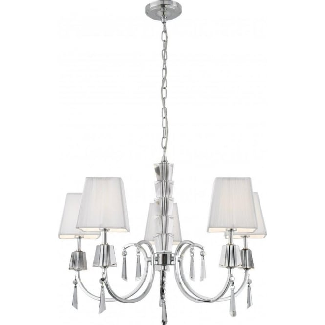 Searchlight 6885-5CC Portico 5 Light Ceiling Light Polished Chrome