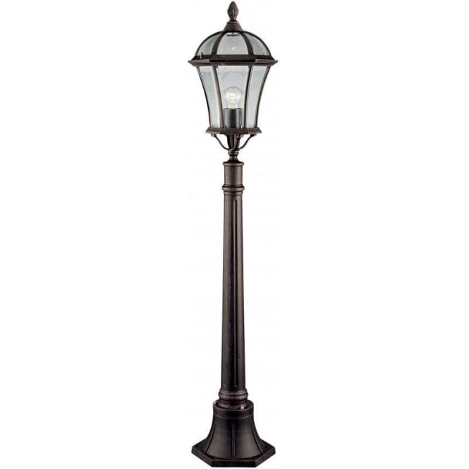 Searchlight 1568 Capri Rustic Brown Outdoor Lamp Post