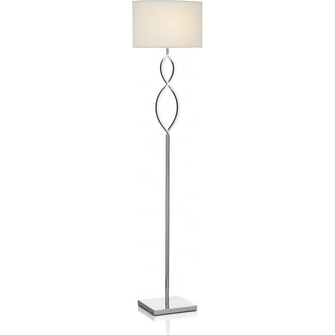 Floor lamps floor lights ocean lighting lui4950 luigi 1 light floor lamp polished chrome with cream fabric shade aloadofball Gallery