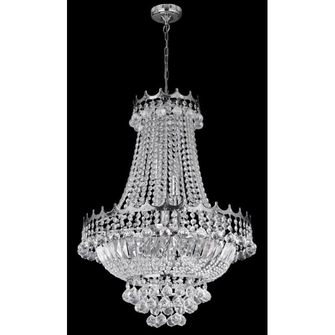 Searchlight 9112-52CC Versailles 9 Light Chandelier Polished Chrome