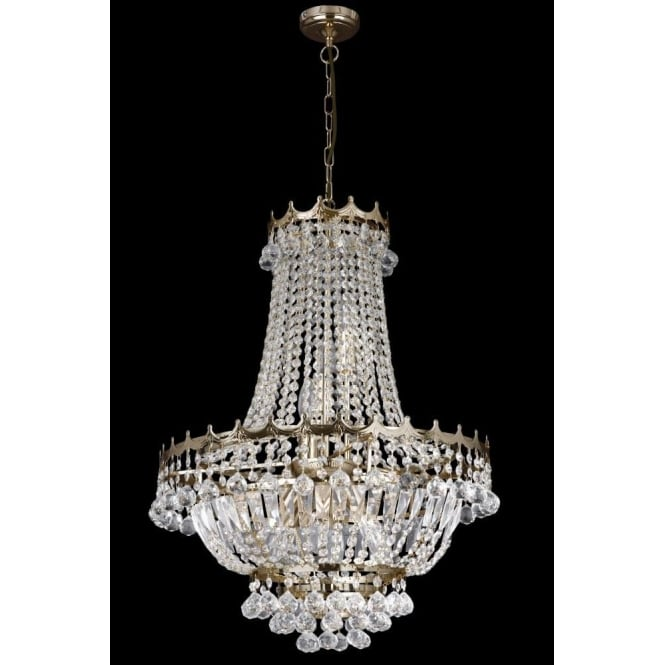 Searchlight 9112-52GO Versailles 9 Light Chandelier Gold